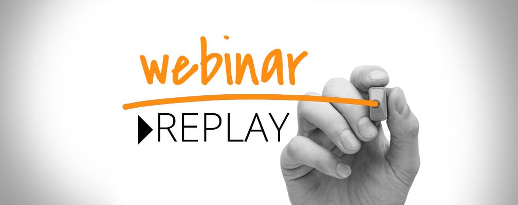 WebinarReplay Status Correction 1st Webinar REPLAY (& Overwhelming Positive Feedback)