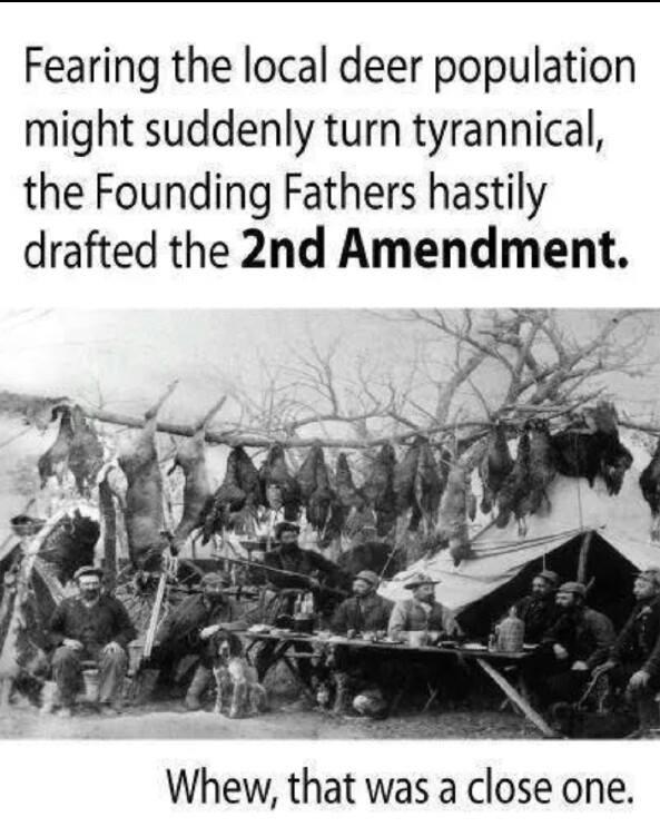 2nd amendment satire deer population 2nd Amendment Humor