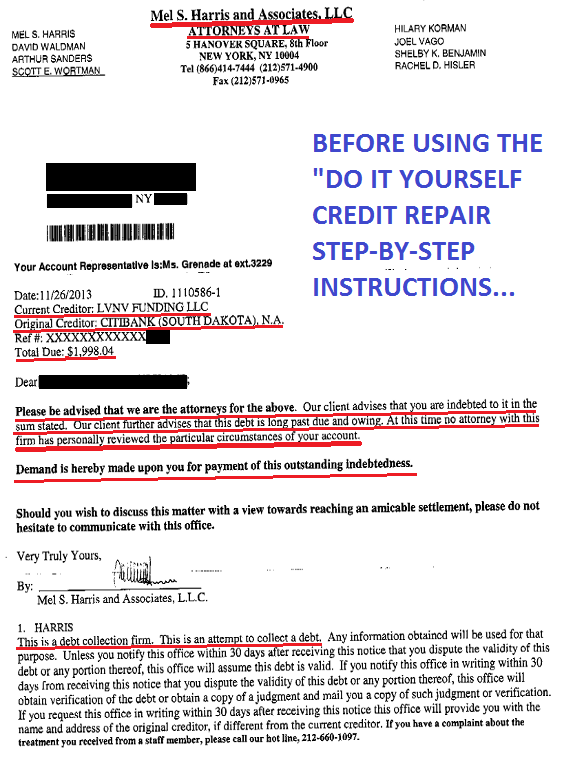 Credit Repair DIY Instructions ly to Remove 3rd Party